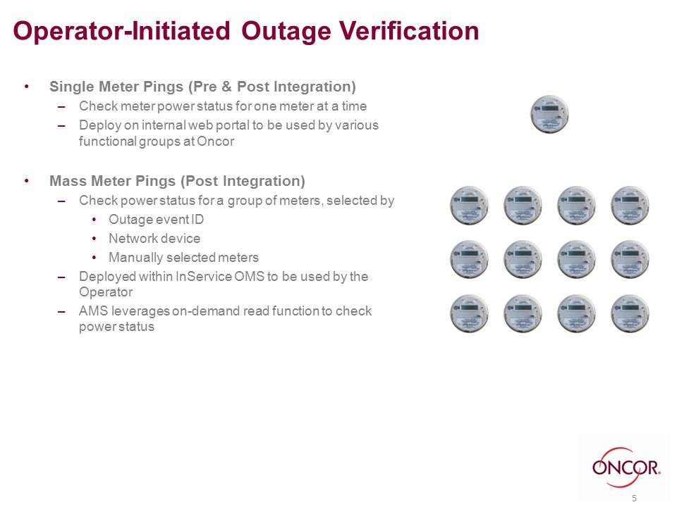 Operator's use AMS to Validate Customer Reported Outages & Reduce Unnecessary Truck Rolls 16