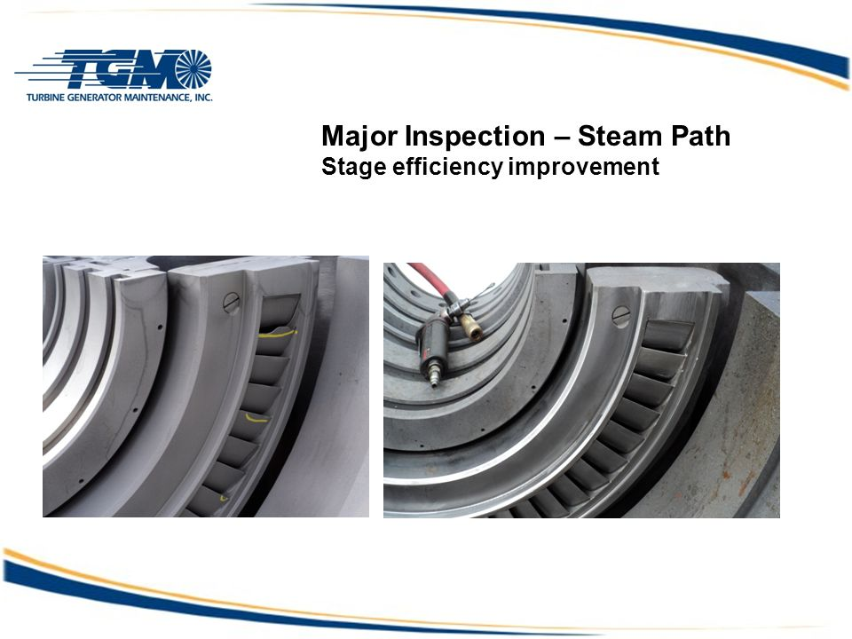 Major Inspection – Steam Path Stage efficiency improvement