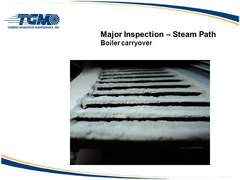Major Inspection – Steam Path Boiler carryover