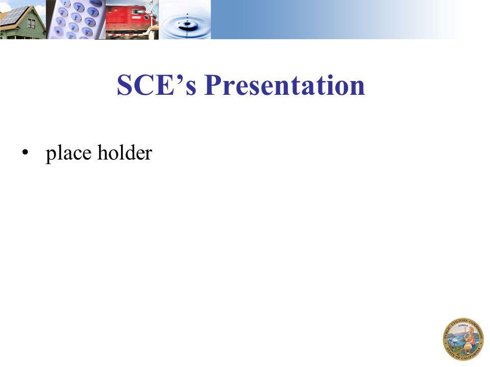 SCE's Presentation place holder