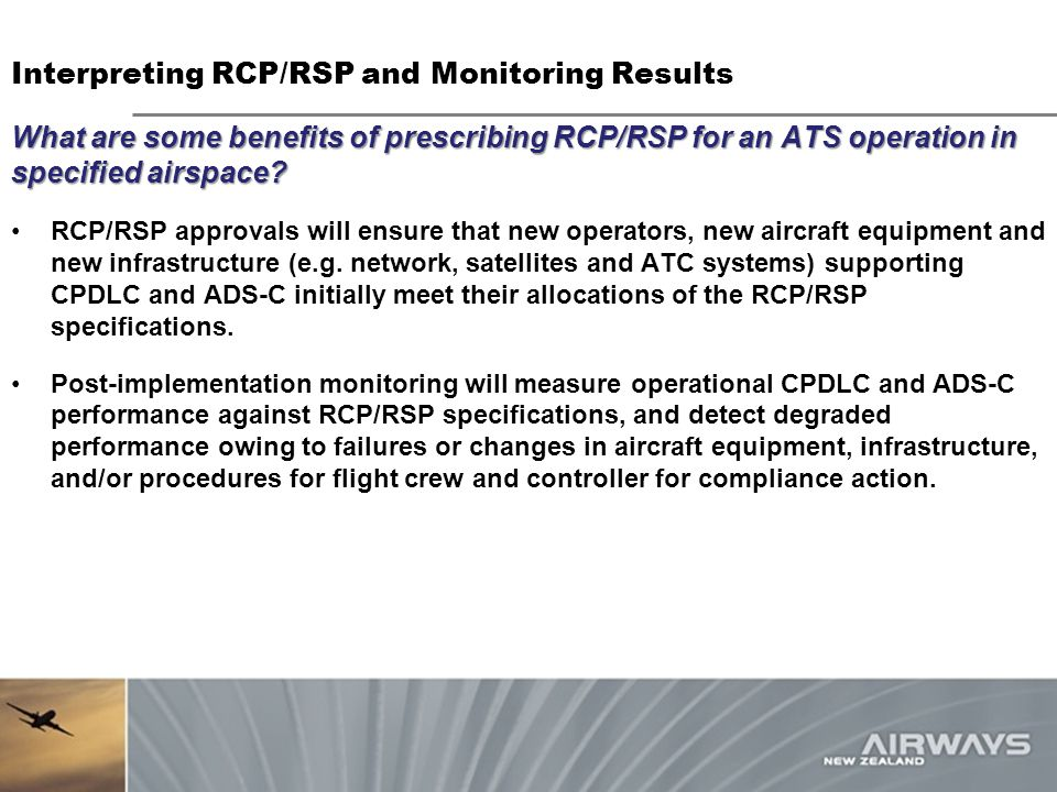What are some benefits of prescribing RCP/RSP for an ATS operation in specified airspace.