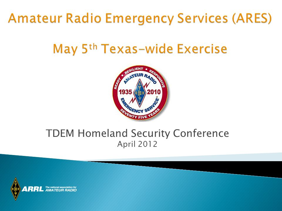 TDEM Homeland Security Conference April 2012