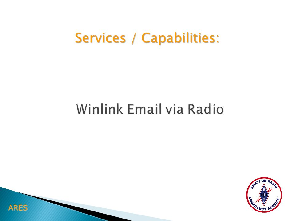 ARES Services / Capabilities: