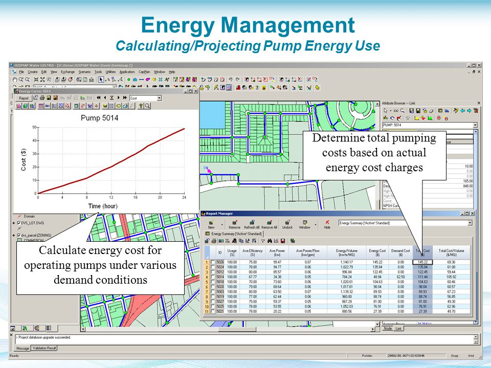 Energy Management Calculating/Projecting Pump Energy Use Determine total pumping costs based on actual energy cost charges Calculate energy cost for o