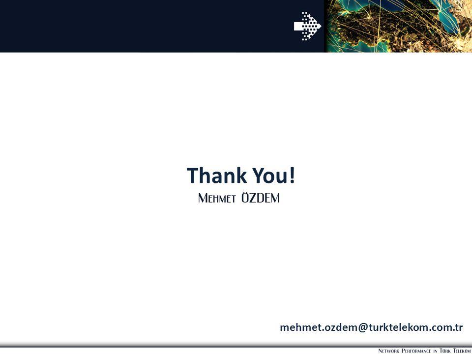 Thank You! mehmet.ozdem@turktelekom.com.tr