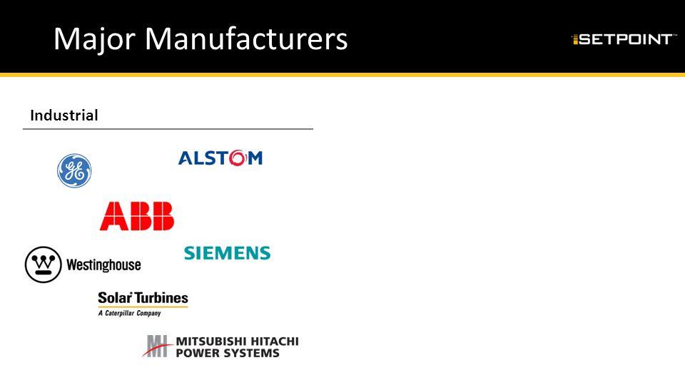 Major Manufacturers IndustrialAeroderivative