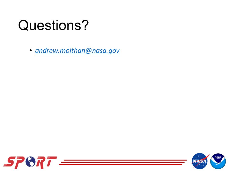 Questions andrew.molthan@nasa.gov