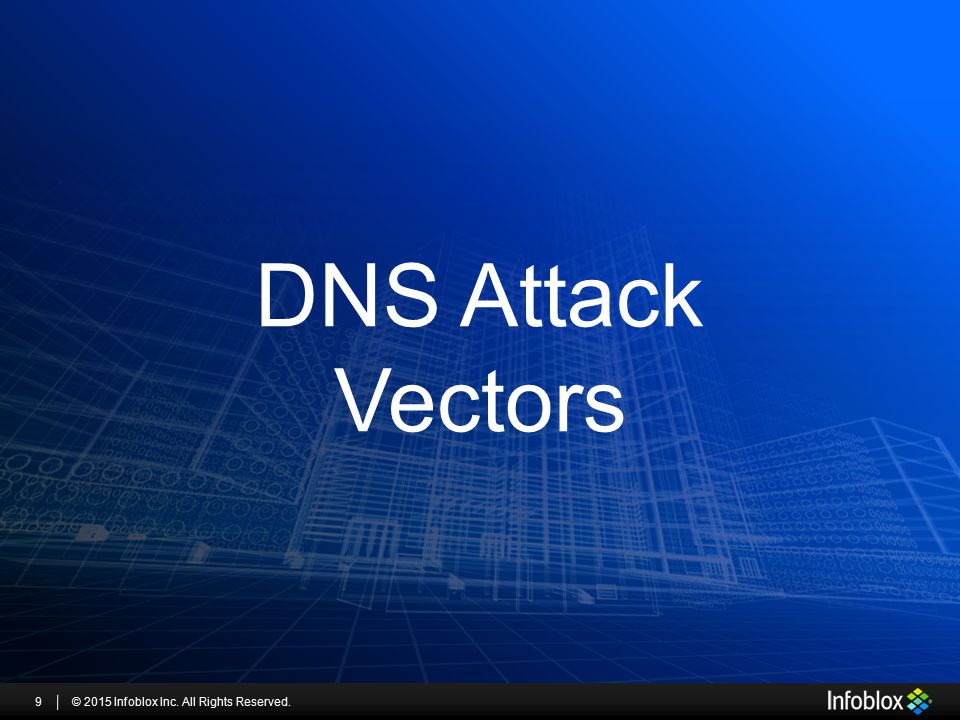 DNS Attack Vectors © 2015 Infoblox Inc. All Rights Reserved.9