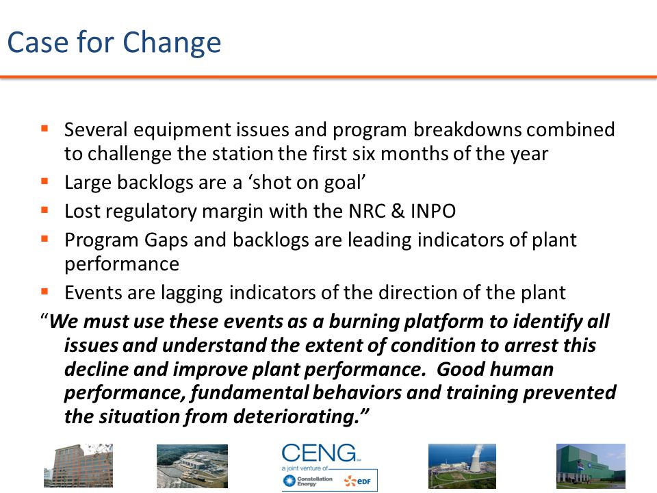 Case for Change  Several equipment issues and program breakdowns combined to challenge the station the first six months of the year  Large backlogs