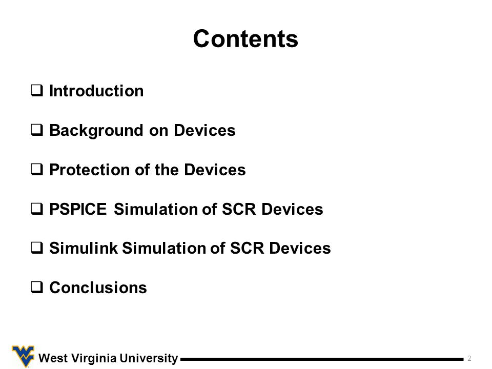 Introduction 3 West Virginia University Over the past few decades, there has been considerable research and advancement in uninterruptible power supplies.