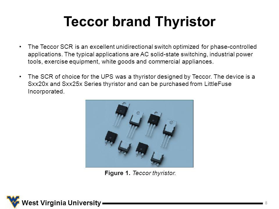 Teccor brand Thyristor 9 West Virginia University