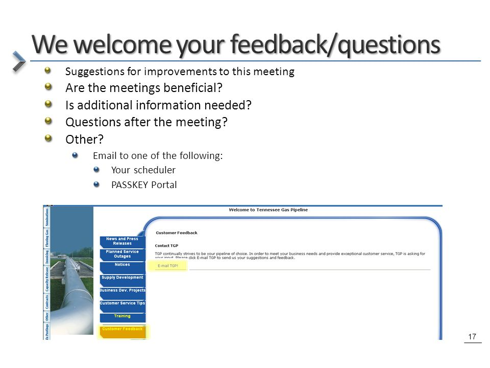 17 Suggestions for improvements to this meeting Are the meetings beneficial.