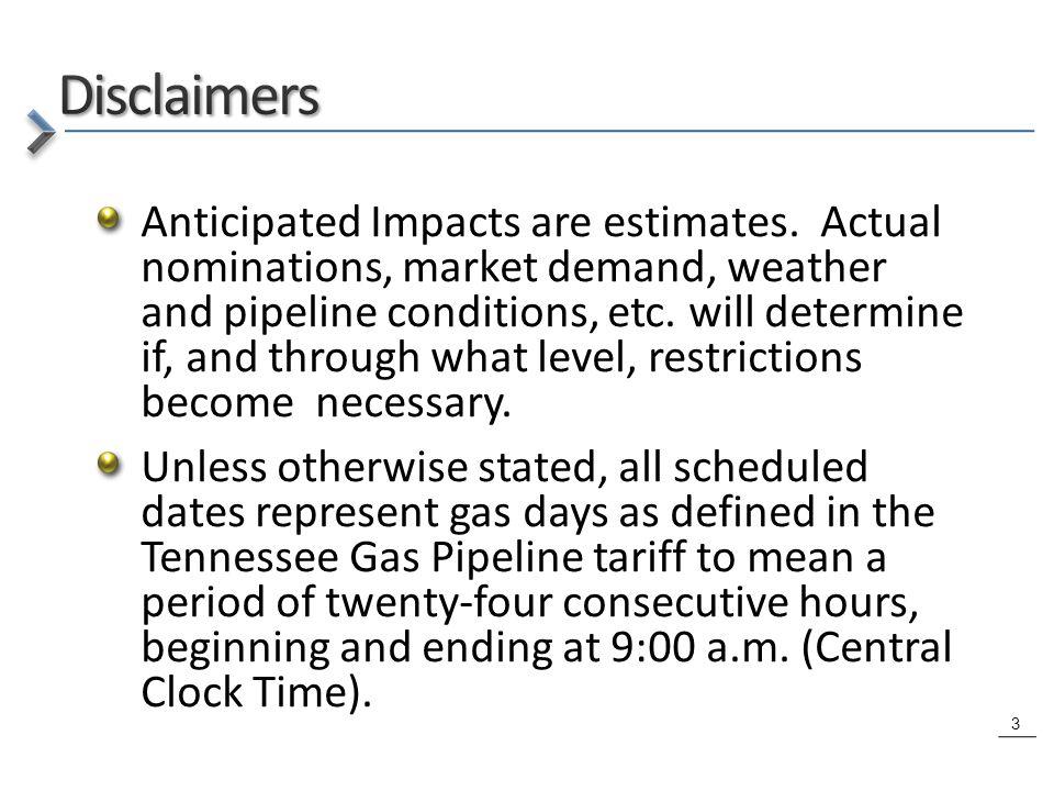 3 Anticipated Impacts are estimates.