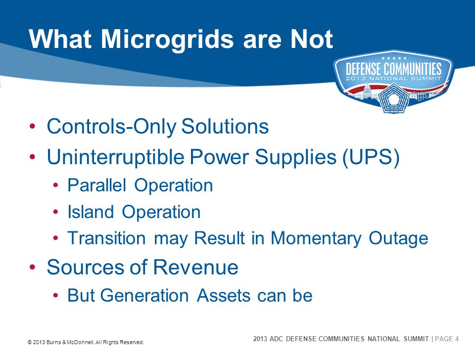 2013 ADC DEFENSE COMMUNITIES NATIONAL SUMMIT | PAGE 15 15 DoD Microgrid Projects © 2013 Burns & McDonnell.