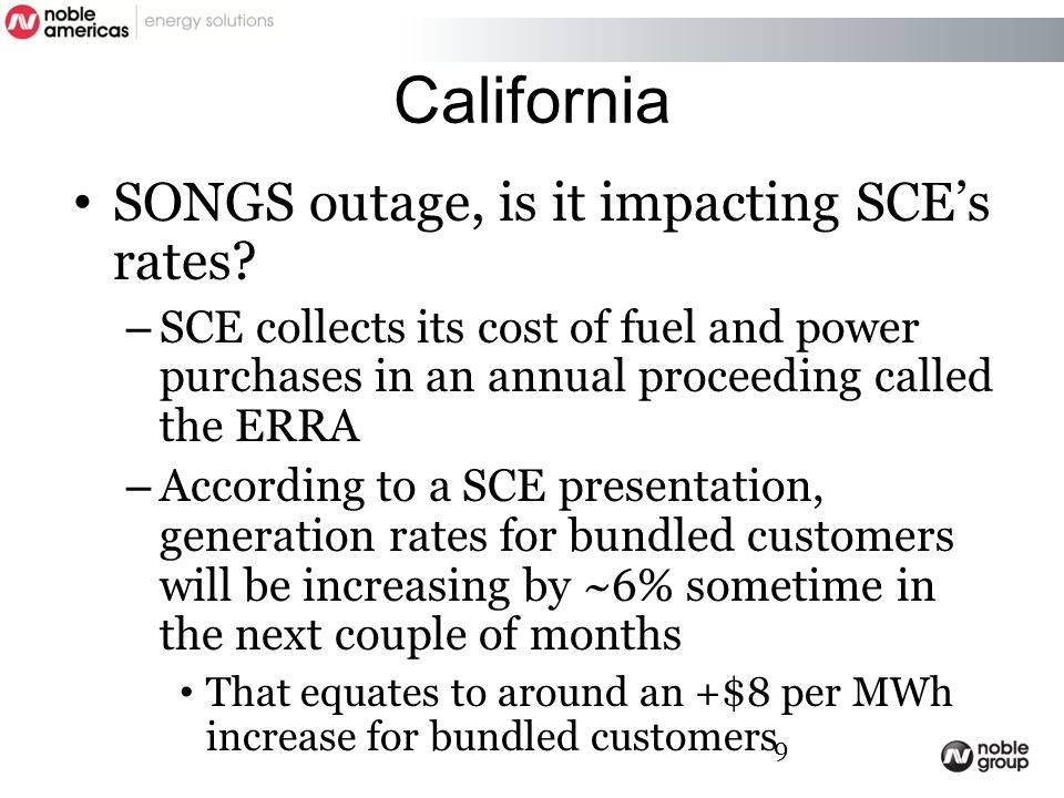 California SONGS outage, is it impacting SCE's rates.