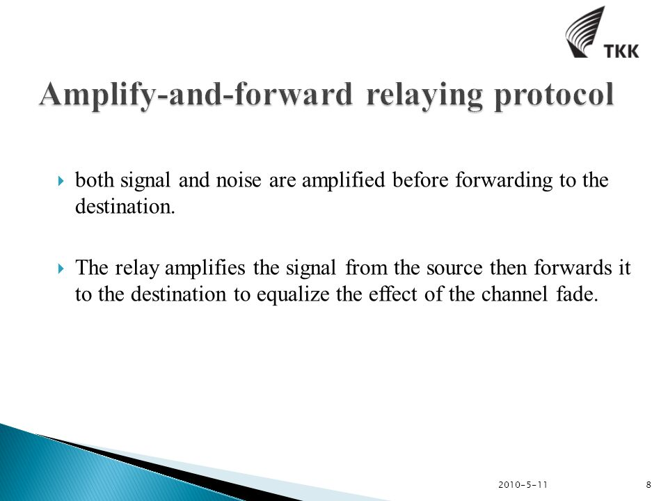  both signal and noise are amplified before forwarding to the destination.