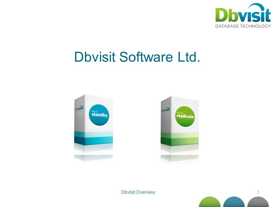 1 Dbvisit Software Ltd. Dbvisit Overview