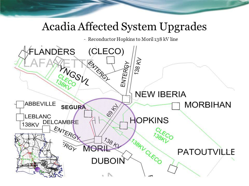 - Reconductor Hopkins to Moril 138 kV line