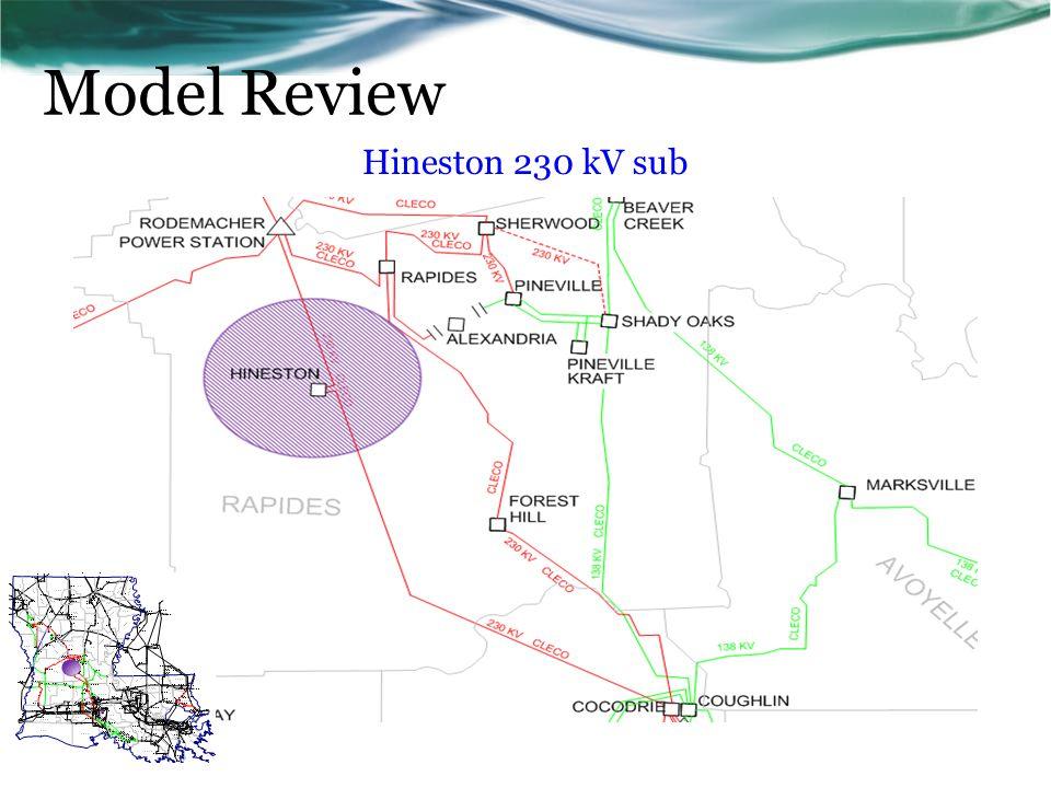 Hineston 230 kV sub Model Review