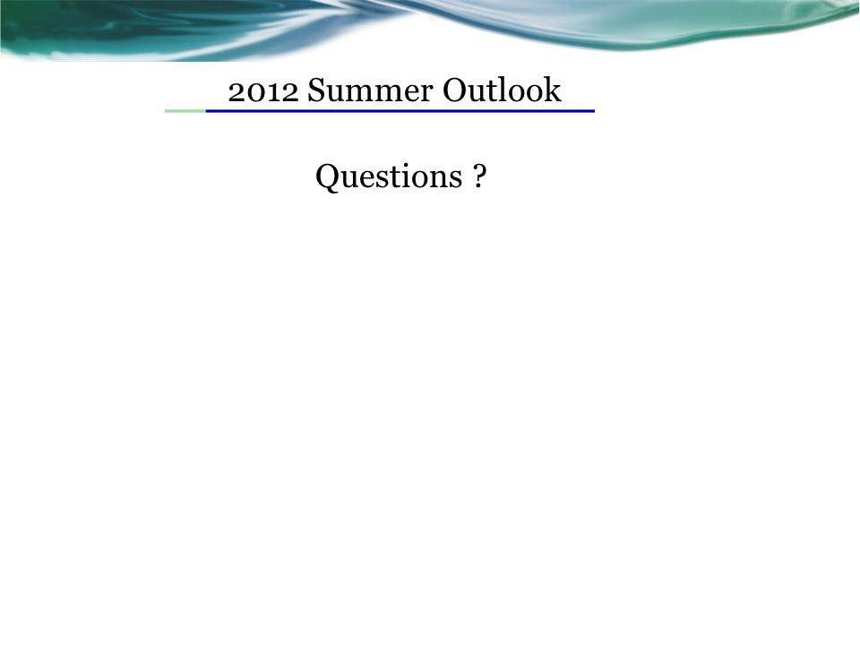 2012 Summer Outlook Questions ?
