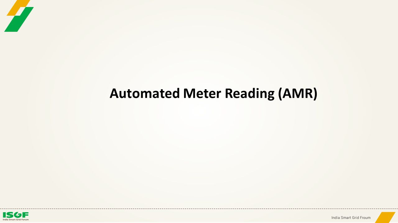 Automated Meter Reading (AMR)