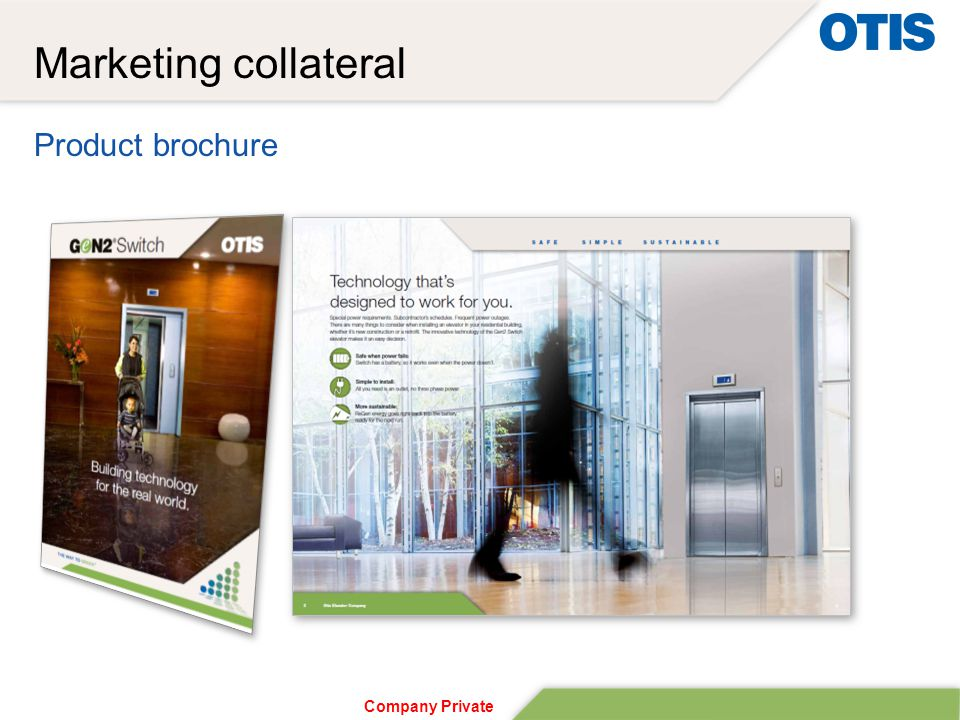 Company Private Marketing collateral Product brochure