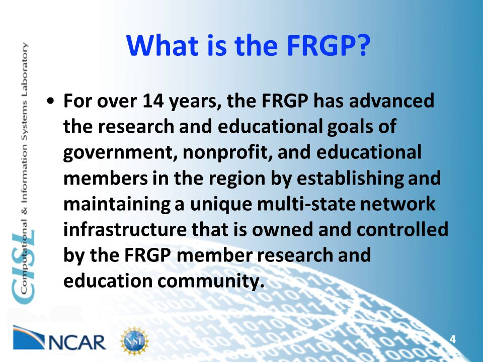 What is the FRGP.
