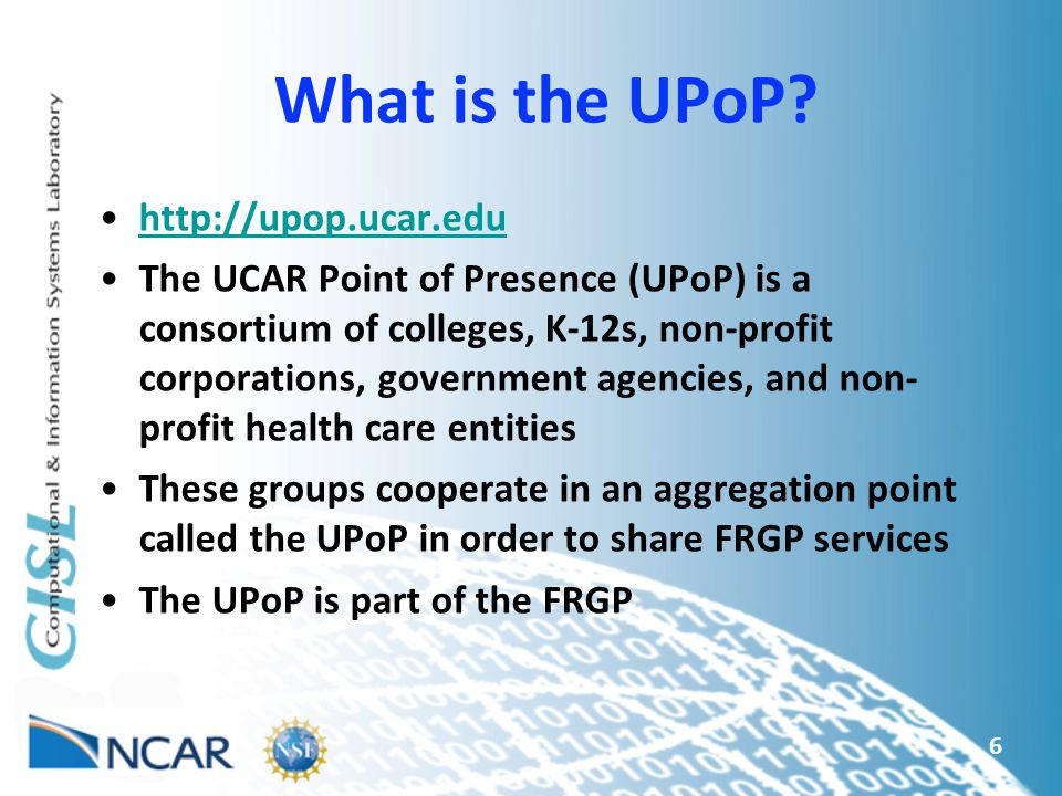 What is the UPoP.