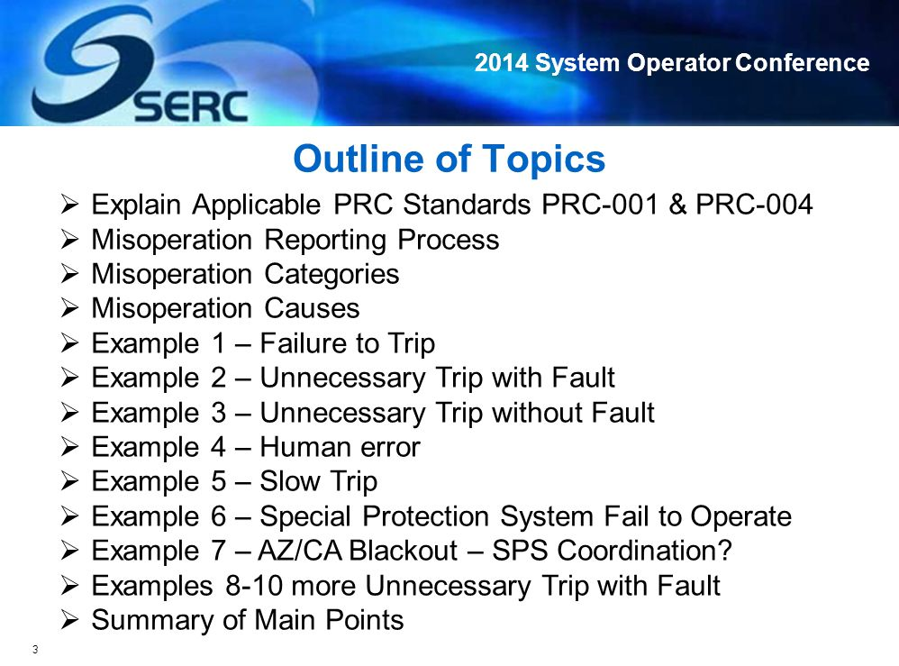 2014 System Operator Conference W W L1 TX1 TX 2 L4L3 L2 Out of Service G1G2 500kV 200kV X Line Fault and Lockout Unit Supposed to Trip Misoperation Example 6: Special Protection System (SPS) Failure to Operate Line Overload, Instability Line Overload 14