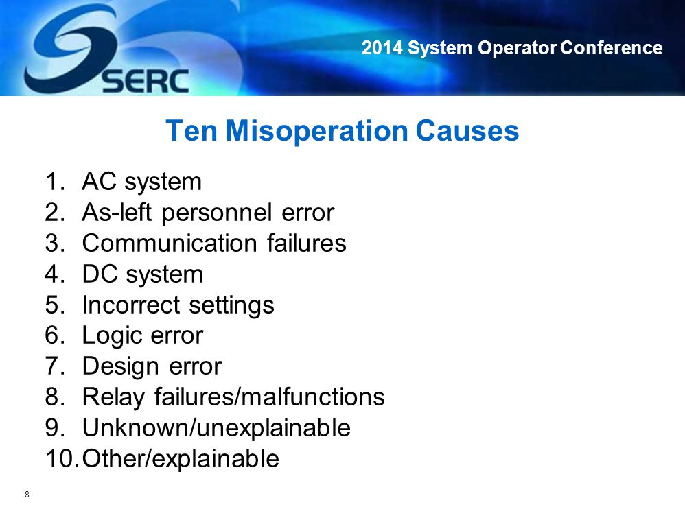 2014 System Operator Conference Line Fault Misoperation Example 1: Failure to Trip Line Fault What the heck.