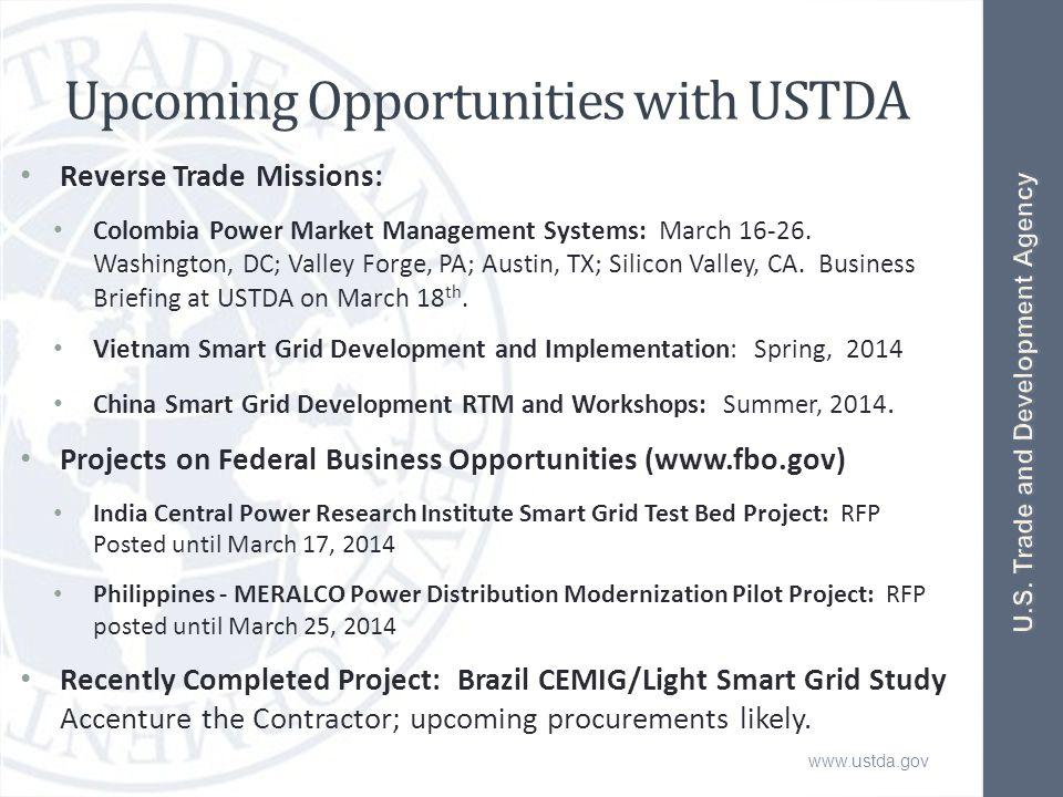 www.ustda.gov Contact USTDA U.S.