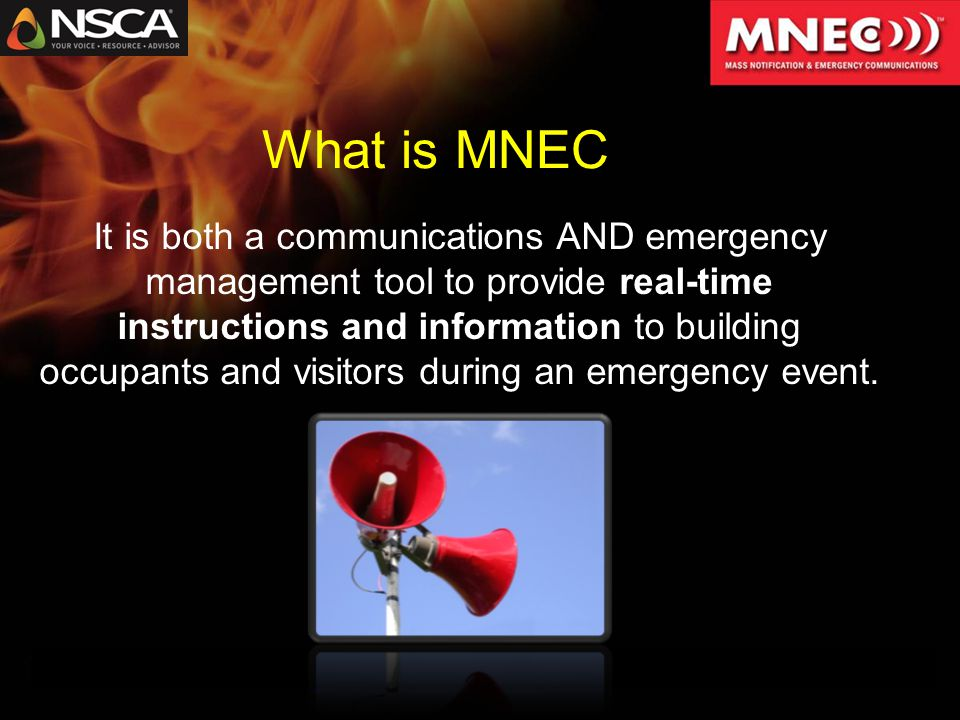  Weather emergency  Medical emergency  Security breach  Public disturbance  Act of terrorism  Chemical release  Fire  Utility outage Joplin When is MNEC Used?