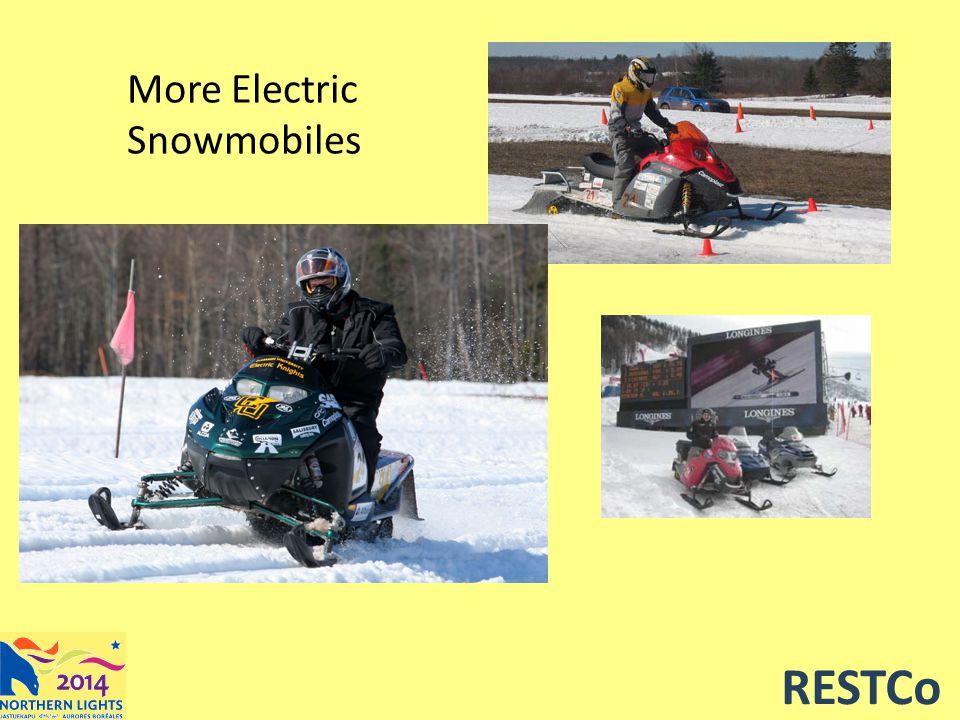 RESTCo More Electric Snowmobiles