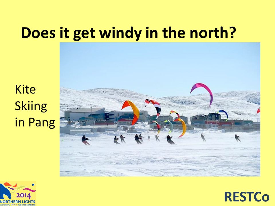 RESTCo Does it get windy in the north? Kite Skiing in Pang