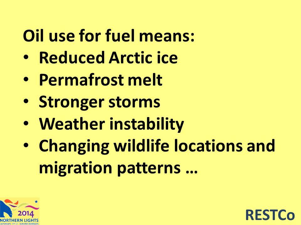 RESTCo Oil – what's the alternative.