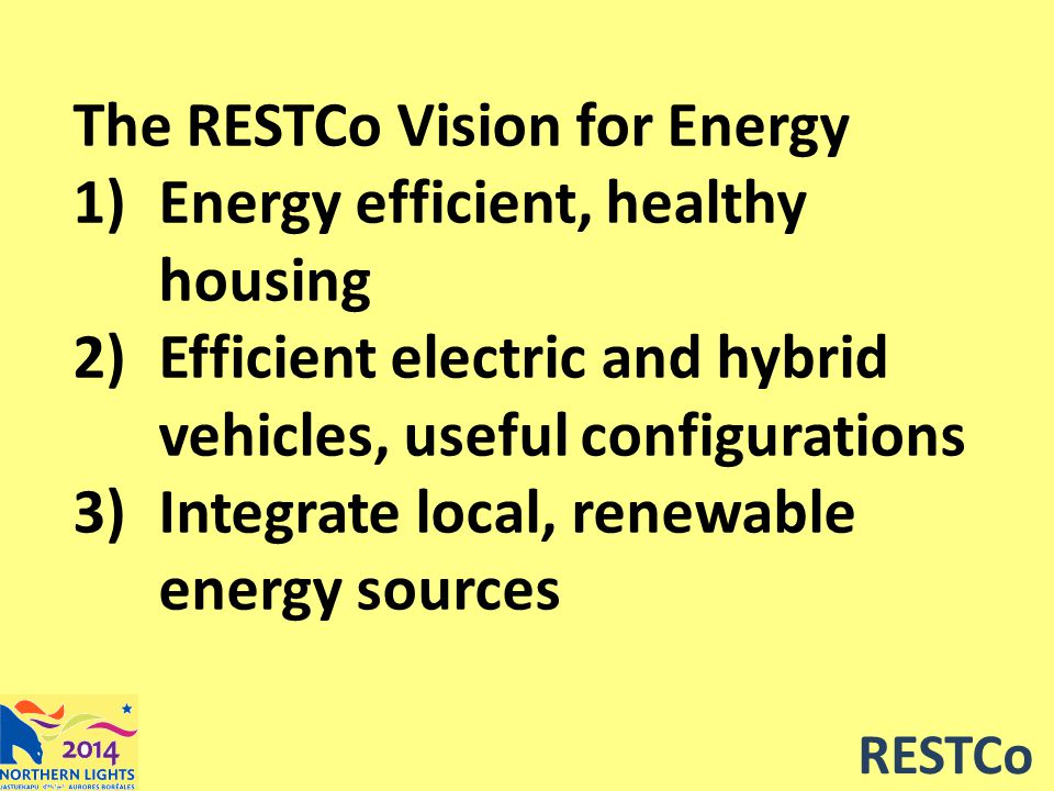 RESTCo Electric & Hybrid Vehicles In remote communities, roads are short, so range is usually not a big issue A small electric truck can travel a useful distance on the electricity used by a block heater so the diesel or gasoline truck can start