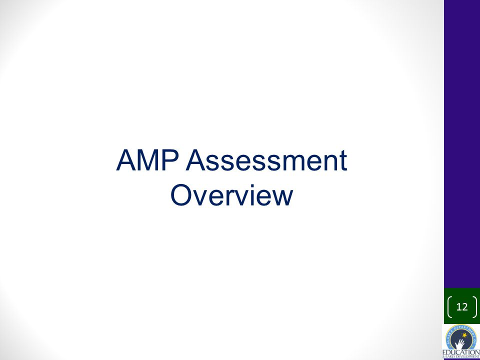 12 AMP Assessment Overview