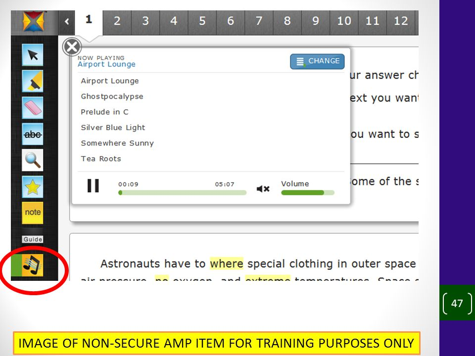 47 IMAGE OF NON-SECURE AMP ITEM FOR TRAINING PURPOSES ONLY