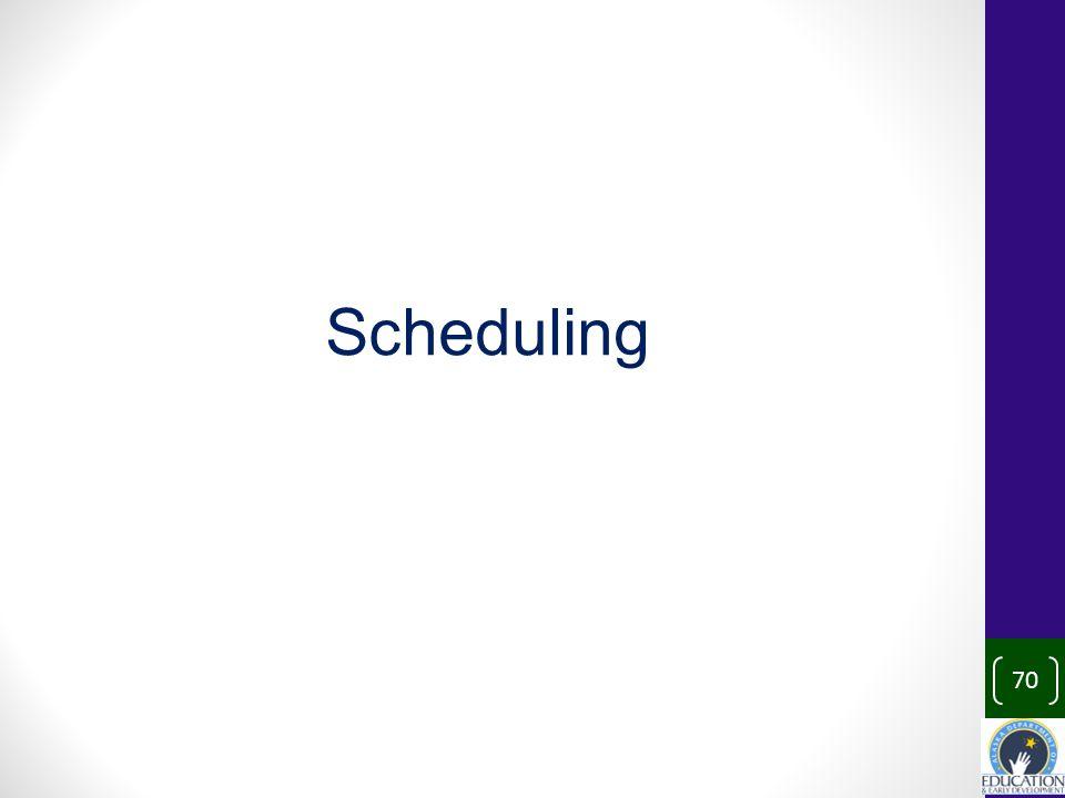 70 Scheduling