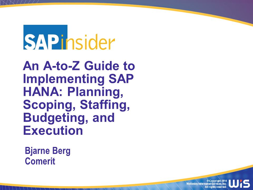 1 In Part 1 of the Session In Part 1 one of this 2-part session we will look at how to plan for, staff, budget, and prepare for a HANA implementation We will see two demos of SAP HANA and discuss the different implementation scenarios You will learn about your hardware options and see real price examples We will explore a milestone plan and look at three different staffing models from real implementations At the end of this session you will know how to start the project planning for your implementation or migration In the second part of this presentation we will look at how to execute a HANA install and HANA migration project, and see how to do development in HANA