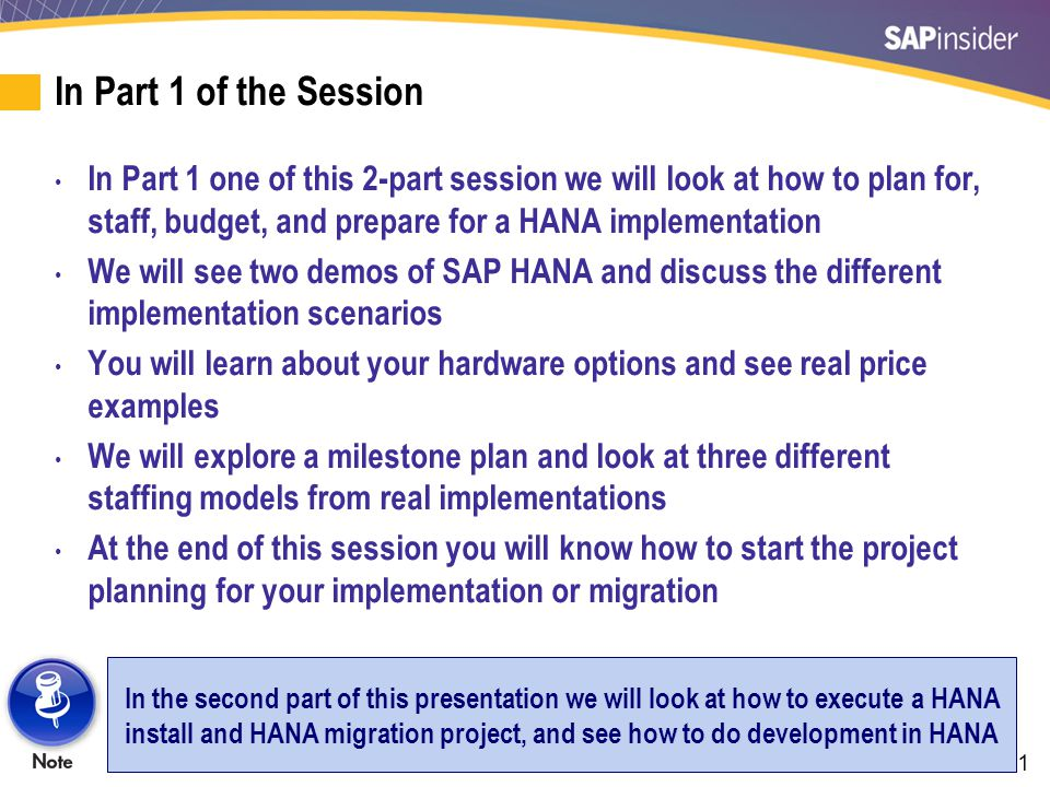 42 HANA Demo — The SAP BusinessObjects Front-End Tools on HANA