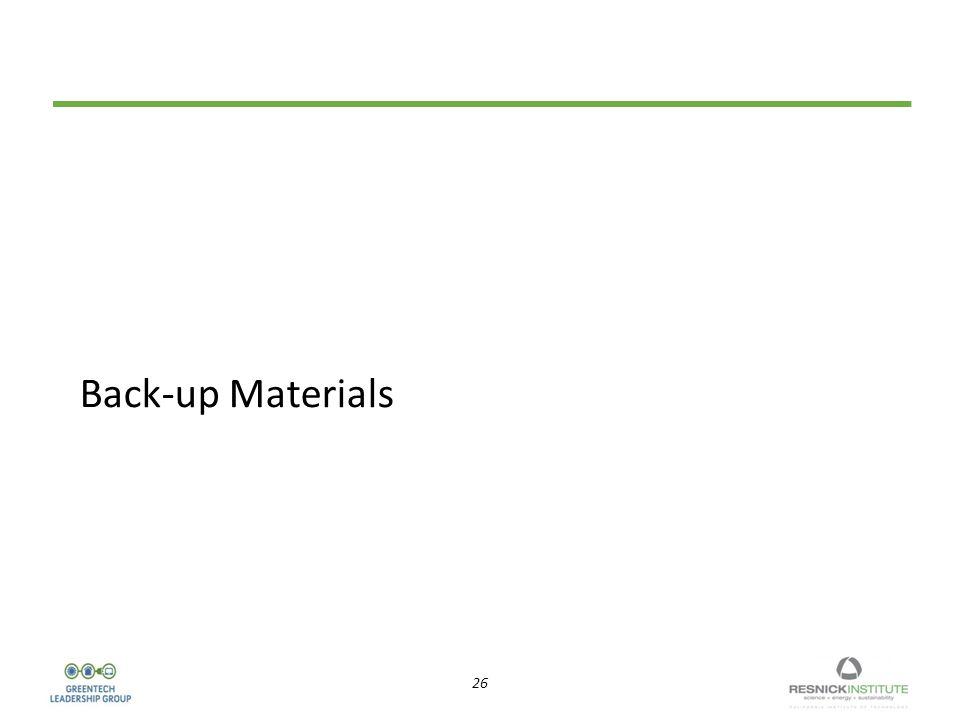 26 Back-up Materials