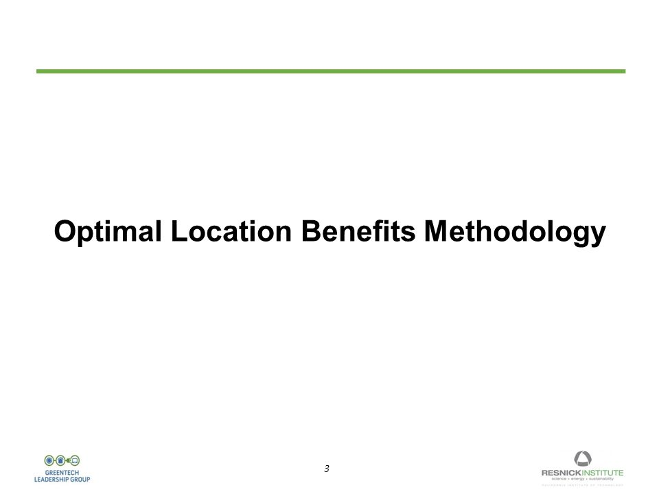3 3 Optimal Location Benefits Methodology