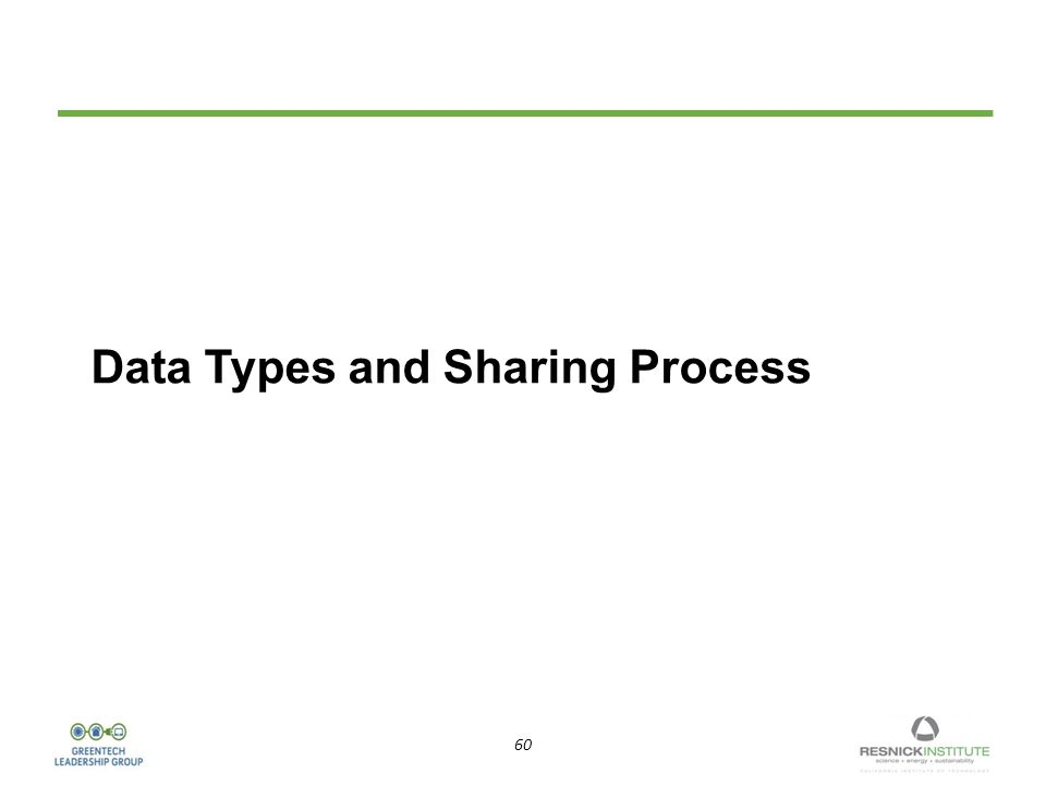 60 Data Types and Sharing Process