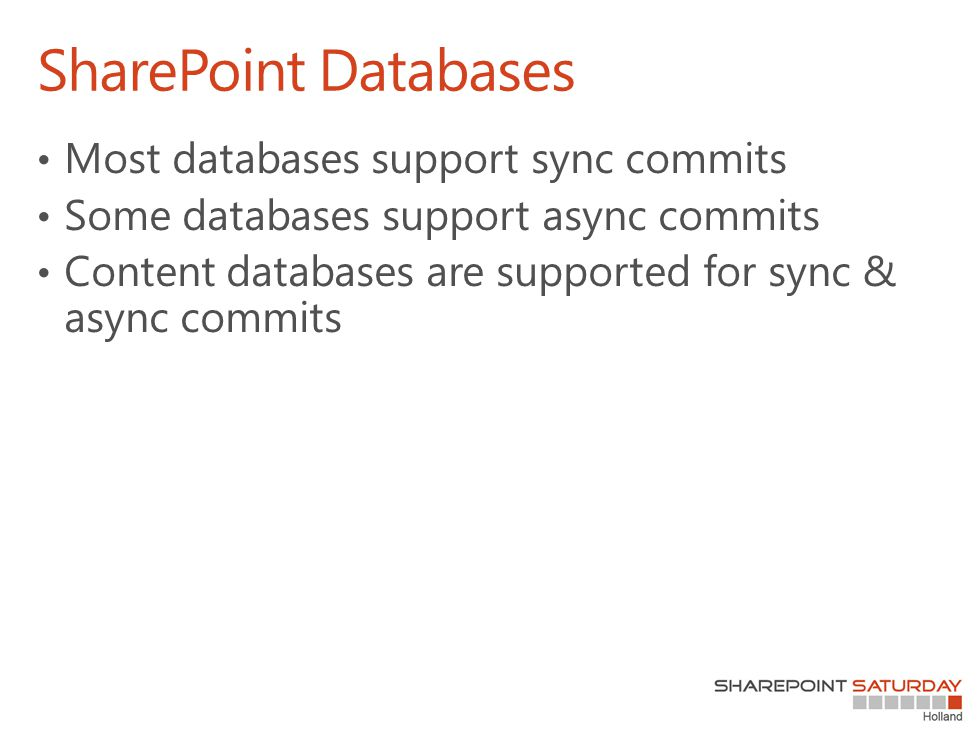 SharePoint Databases