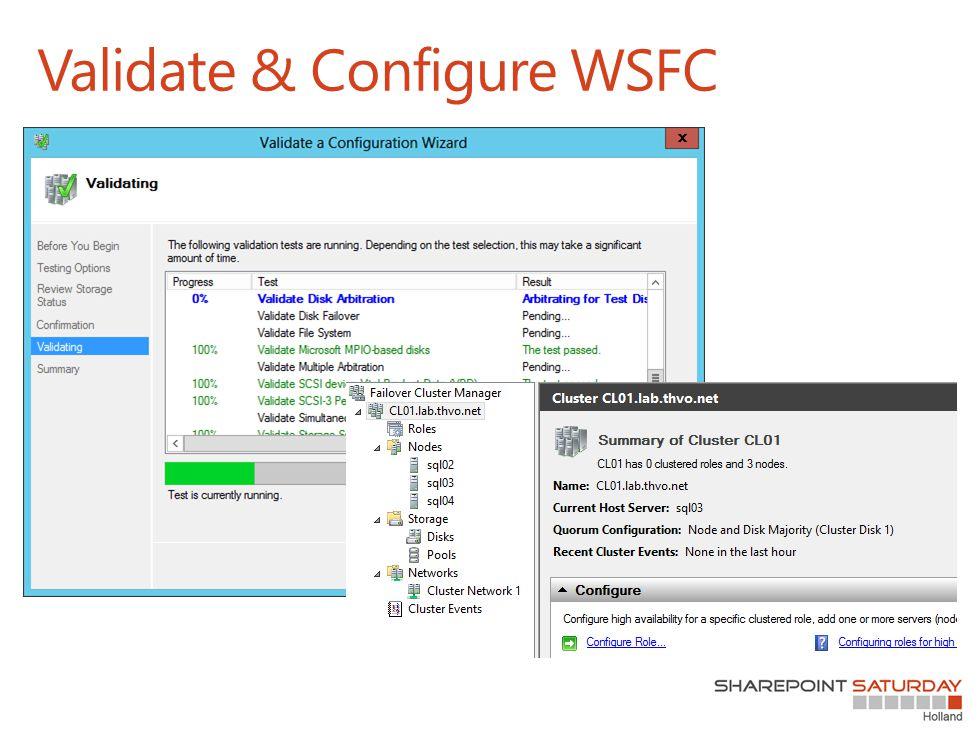 Validate & Configure WSFC