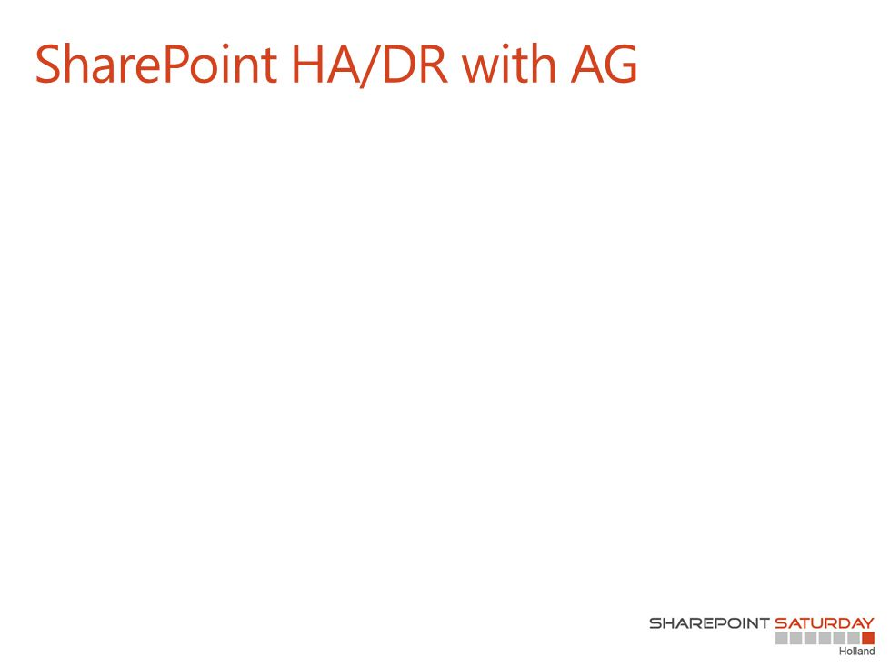 SharePoint HA/DR with AG