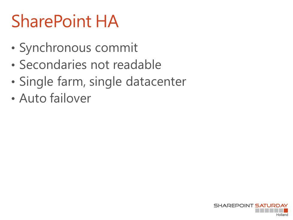 SharePoint HA
