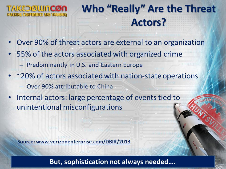 Who Really Are the Threat Actors.