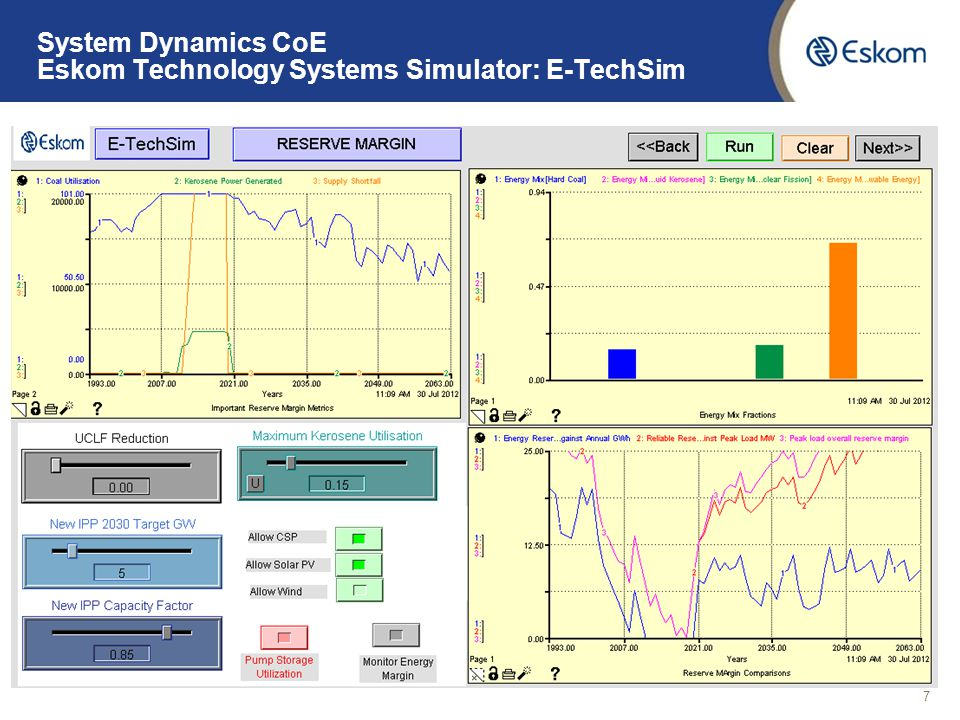 System Dynamics CoE Organisational Strategy: Eskom Scenario Simulator